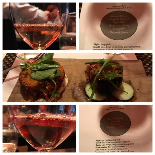 Rose wine tasting and pairing event.
