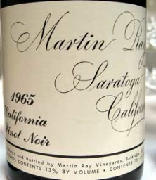 Martin Ray Wine Lable
