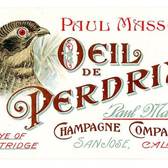 Paul Masson Champagne Company label. Photo courtesty of Wikipedia.